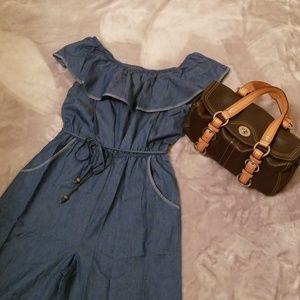Wrapper and Coach purse
